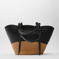 Novo Estilo de papel com formato extra Braid Tecidos de saco de praia de Palha