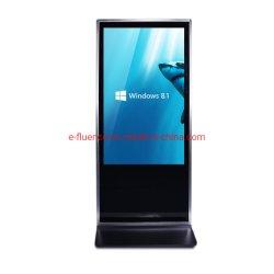Pedestal de 43 pulgadas para Digital Signage Publicidad Pantalla LED de señalización digital en el interior todo en un PC con pantalla táctil Toque IR
