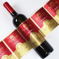 押すホイルが付いているカスタム自己接着プリントワインのラベル