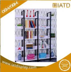 Suelos de madera mostrar libros Rack con ranuras para portátil/taza/Box/Vaso/Tie/Álbum.