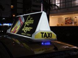 Идеальное качество изображения P3мм цифровой подвижной Водонепроницаемый светодиодный экран такси знаков для рекламы