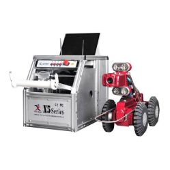 Inspection de vidange de vidéosurveillance Crawler Pan/Tilt/Zoom appareil photo à chenilles de tuyau