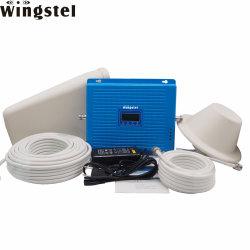 هاتف محمول Wings Quad Band GSM 2g 3G 4G LTE الإشارة معزز الإشارات 4 نطاقات جهاز تكرار إشارة الهاتف المحمول مع الهوائي