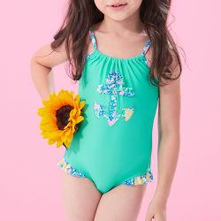 2021 한 조각 어린이 비키니 작은 소녀 수영복 비치웨어 수영복