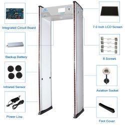 7 Polegada 24 Zonas 300 Sensitivy ecrã LCD Tutorial de Nível de Porta de Metal Tester Alarme Audível