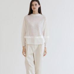Vestuário de moda para senhoras Tecidos de lã Cashmere ambos os lados podem Waer pulôver.