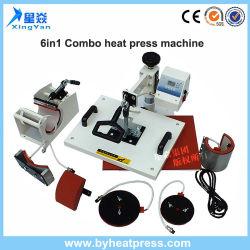 Fabrik-Verkaufs-kombinierte Wärme-Presse-Maschine 6 in 1