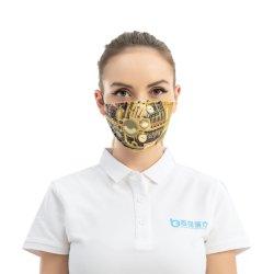 調整可能なイヤーループによる、再利用可能な布による顔のほこり保護