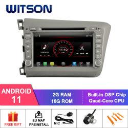 Witson Quad-Core Android 11 Car DVD 플레이어 Forhonda Civic 2012 LHD WiFi CarPlay 헤드 유닛