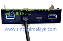 3.5 '' 2 mozzo del USB 3.0 Prts + 2 Tipo-c pannello frontale di espansione dell'azionamento flessibile delle porte