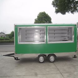 حارّ عمليّة بيع الفشار آلة يستعمل في خارجيّة طعام كشك/متحرّك طعام عربة/شارع طعام عربة مقطورة لأنّ عمليّة بيع