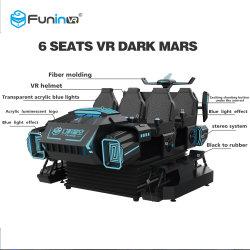 Simulatore VR a sei posti in vendita a caldo Teamwork Six Seat VR Dark Mars Tiro Giochi per il parco divertimenti