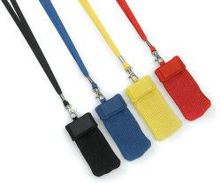 De kleurrijke Mobiele Sok van de Telefoon met Sleutelkoord (js-70801)