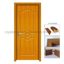 2019 Diseño de moda más reciente de la puerta de madera de PVC en silencio y fino Hardware