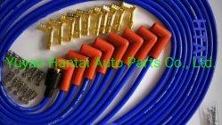 Htap Juego de cables de bujías de encendido el fuego de la calle; 8mm, negro/rojo para Ford 302/351W SBF