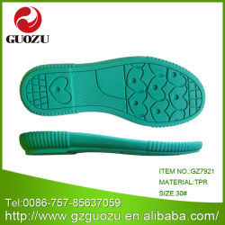 Enfant TPR Usine de chaussures de couleur unique gz-7921