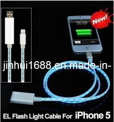 2013 neue Daten sichtbares EL-Kabel für iPhone 5 (JH-cable-05)