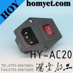 Neuer Style Hot Sale WS Power Jack mit Ein-AusRed Button Switch (HY-AC20)