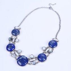 Neue Auslegung Lapis Lazuli-Legierungs-Halskette