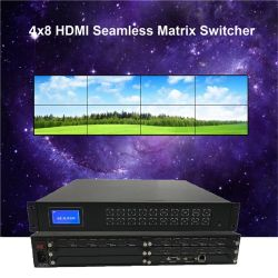HDMI Full HD1080p 4X8 HDMI сшитых матричный коммутатор 4X8 сшитых матричный коммутатор с функцией на стене