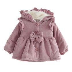 겨울 새 스타일 베이비 두껍게 후드 재킷 플러시 면 재킷 코트 아동복 윗옷 겨울 유아걸즈 패딩 재킷