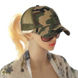 Le Camouflage Queue de Cheval Cap Casquette de baseball pour les filles