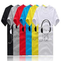 Пользовательские рекламные белая футболка с печатной платы на заводе /мужские футболки