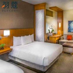 맞춤형 화이트 호텔 침대 시트 100% 자수 침구 세트 면