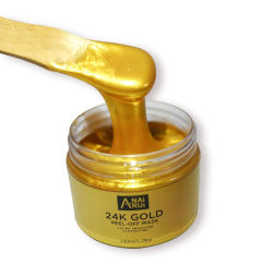 Private Label masque facial de soins de beauté de la peau blanchissant exfoliant natural or 24K Masque Peel Off