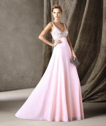 ثوب العروس من تصميم A-Line Empire الخصر العريشة من الطول الكامل (BD10044)