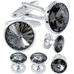 VAGULAの真鍮のタキシードのカフスボタンのスタッドは人の宝石類をセットした