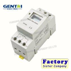 220VAC 16A DIN 레일 디지털 프로그래밍 가능 타이머 시간 릴레이 스위치
