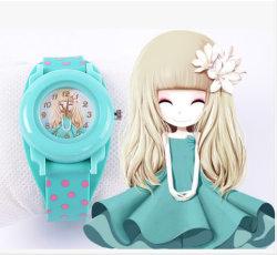 Promotion Montres matériau de silicium de cadeau de cas montre-bracelet en plastique pour la promotion (DC-063)