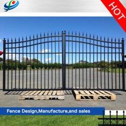 المصدّرون: جدار/سياج منزلق قابل للطي من الألومنيوم تصميم مشواة الحديد من الباب الحديدي المشغول