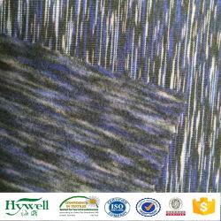 Aufgetragenes Platz-Farben-Polyesterspandex-Gewebe für Hoodie Strickjacken