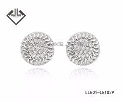 925 orecchini brillanti dell'argento dei monili dell'argento sterlina