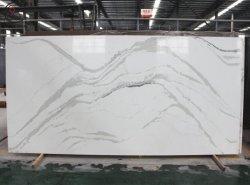 Resistente al calor en busca de mármol Calacatta imitación piedra de cuarzo