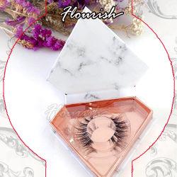 Moda Invory Elemento Dimond de mármol de color corte de pestañas en forma de corazón de papel de embalaje Caja con tapa de plástico