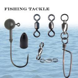 Attrezzature di pesca che rotolano le parti girevoli ed i pesi a schiocco di pesca del tungsteno e le teste della maschera che pescano gli accessori terminali dell'attrezzatura