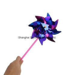 크리스마스 훈장 정원 풍차, 휴일 디자인 플라스틱 Pinwheel 풍차