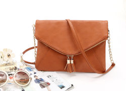 Bolsas de mulheres PU Cadeia Couro noite casual sacos sacos de mão caros charme feminino da embreagem de envelope (WDL0962)