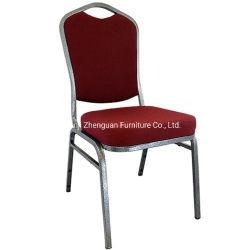 Hotel d'acciaio della Borgogna del tessuto del metallo accatastabile della parte superiore che pranza la presidenza di banchetto della mobilia