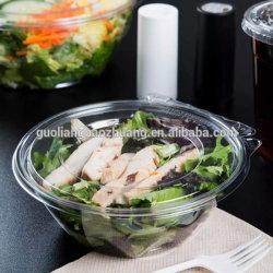 Alimentos Envases biodegradables térmica puede fábrica ronda contenedor transparente