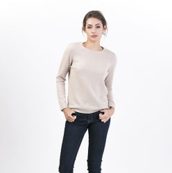 La mujer un clásico de la Lana Cashmere suéteres Jersey Crew-Neck