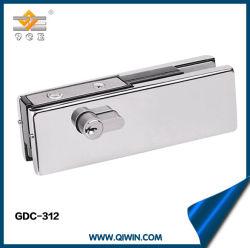 De bonne qualité de la porte sans cadre en acier inoxydable avec verrouillage du raccord de Patch pour le verre porte battante