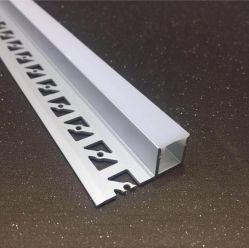 乾燥した壁で引込む建築プラスターLED角のプロフィール