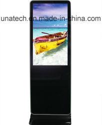 LED 55дюйма напольная подставка управлением центров отель рекламные рекламы Тотем цифровой сенсорного киоска Media Player ЖК-дисплей