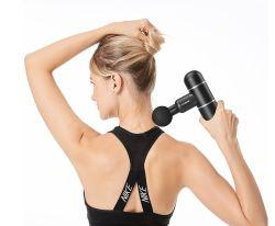 Электрический массажер мышц передней панели выбора режима массажа пистолет глубокое расслабление мускулатуры вибрации оборудование для фитнеса