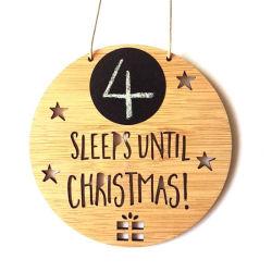 크리스마스 대나무 크리스마스 홈 훈장 크리스마스 벽 표시까지 잔다