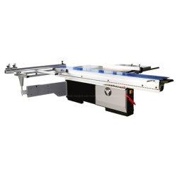45 度傾斜精密電動自動木工合板 MDF アクリル メラミン仕上げの木製ボード、精確な傾斜可能な円形スライディングテーブルパネル切断 鋸を切断します